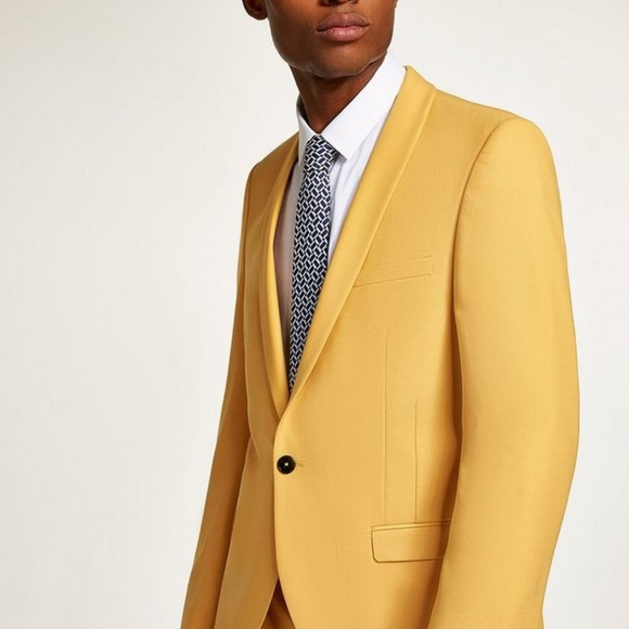 Topman Other - Twisted Tailor Yellow Skinny Fit Blazer